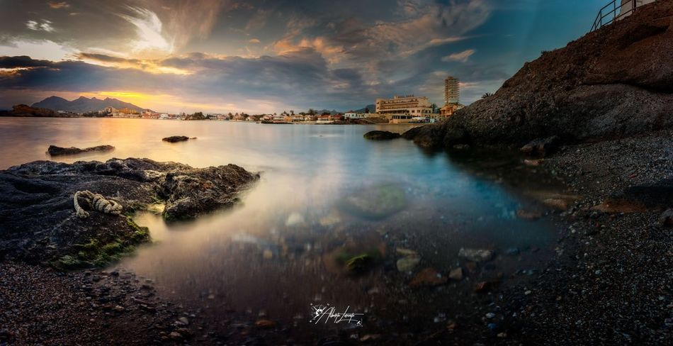 Atardecer panorámico Mediterranean  Landscape Long Exposure Architecture Building Exterior Built Structure Beauty In Nature Reflection Sea Sunset Tranquility Solid Scenics - Nature Tranquil Scene The Great Outdoors - 2018 EyeEm Awards