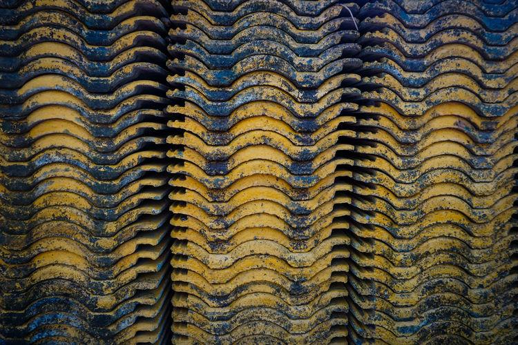 Full frame shot of abandoned roof tiles