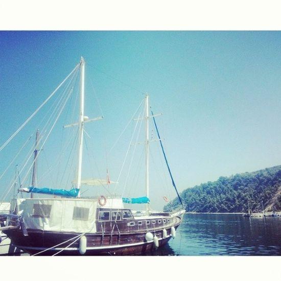 Tekne Doğa Huzur Deniz Mavi Hayat Tirilye Köy Cennet Blue Sea Sky Nature Paradise Postcard Boat Cove Instatravel Instacool Wiew Beauty Latergram Scene