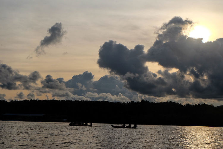 Ohhhh I see Water Animal Wildlife Nature Silhouette Lake Outdoors Tree Cloud - Sky Sunset Landscape No People Animals In The Wild Beauty In Nature Day Scenics Sky Bird Mammal Seascape Sea And Sky Travel Pangnga Clear Sky Vacations Fishing Village