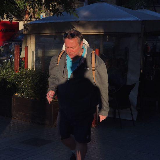 Full length of man walking outdoors