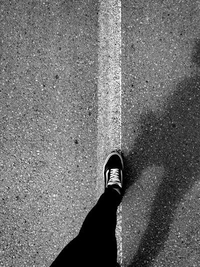 I walk the line Out Of The Box Vans Vans Off The Wall Vanslover Streetline streetart street streetphotography Lifeline Loveline