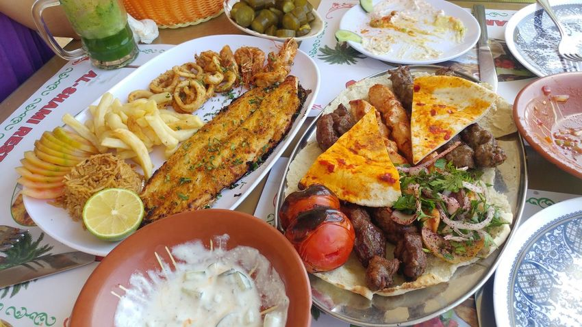 Aqaba Food And Drink Middle East Close-up Day Food Food And Drink Freshness Healthy Eating High Angle View Indoors  Meat No People Plate Ready-to-eat Serving Size Table