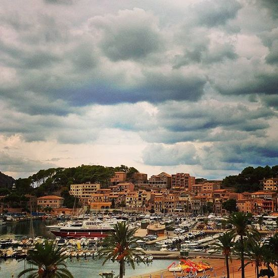 Clouds above Port de Sóller. Must have inspired the producers of Cloud Atlas, which was partly filmed here. ☁ Portdesóller Mallorca Baleares SPAIN