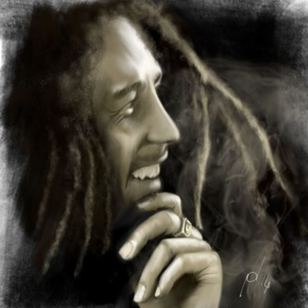 ArtWork Art Ipad Digital Painting Digital Art Portrait Bobmarley Ipad Drawing Drawing Music