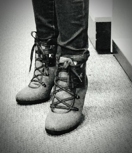 Shoe Lifestyles Standing Boots On The Ground grey boots. Standing on solid ground. Trying on shoes. Stepping out. Walking Boots EyeEmNewHere