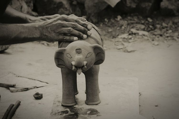 Pottery Workshop Small Business Pottery Maker Clay Work Clay Pottery And Clay Hands On Clay Animals Black And White Working Man Clay Elephant Pottery Passion Object Photography Elephant Statue Clay House Art Is Everywhere Small Business Heroes