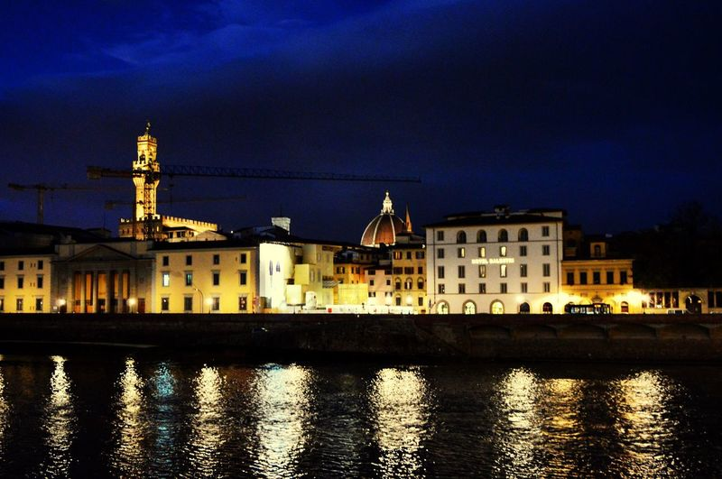 Architecture Spirituality City Reflection Night Travel Destinations Illuminated Church Streerphotography Battle Of The Cities Florence Italy
