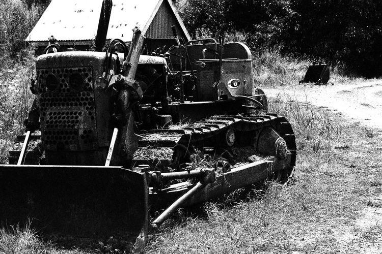 Abandoned Broken Bulldozer Damaged Machinery Monochrome Old Transportation Walking Dead Moment