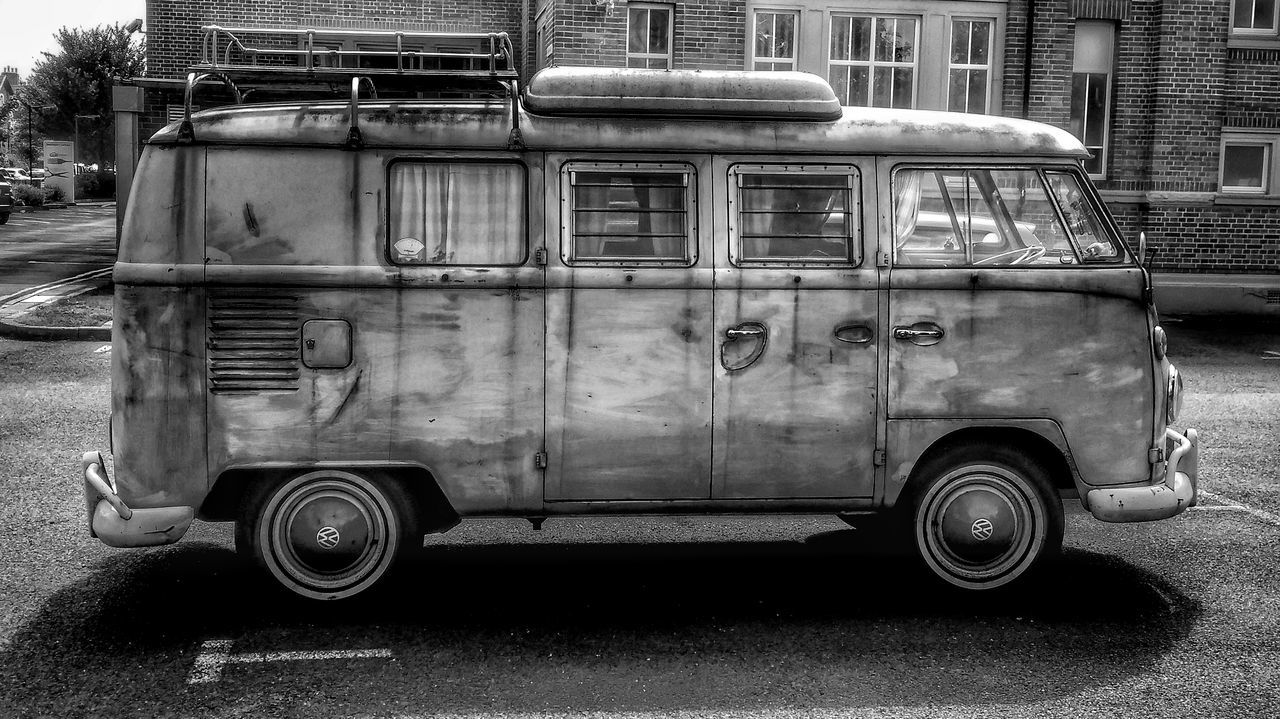 transportation, mode of transport, land vehicle, day, no people, outdoors, building exterior, close-up
