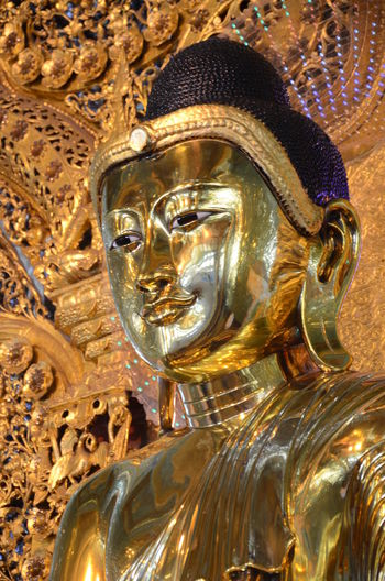 Buddha Image Face Of Buddha Image face gold Gold buddha image