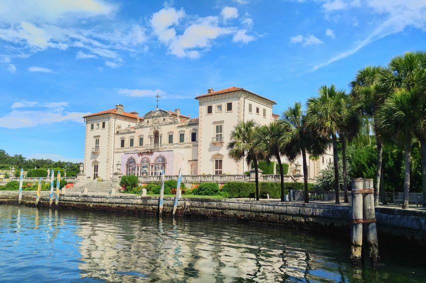 Miami Coral Gables Architecture Sky Building Exterior Water Vizcaya Vizcaya Gardens Italianate Architecture