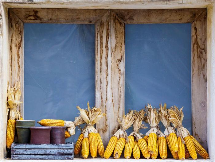 Corns on window sill