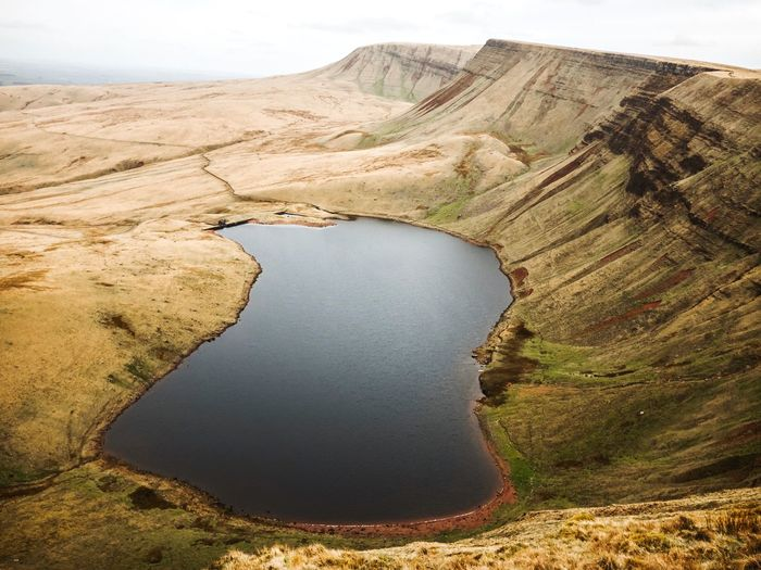 Llyn Y Fan Fach IPhone Photography Brecon Beacons National Park Tranquility Tranquil Scene Scenics - Nature Beauty In Nature Water Landscape Land Outdoors Lake Nature Mountain High Angle View No People