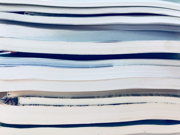 Pages Of A Book Pages The Week on EyeEm Abstract Backgrounds Abstract Books Full Frame Pattern Backgrounds No People Striped Day Textured  Close-up White Color Cold Temperature
