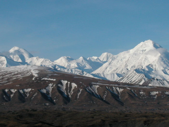 Alaska Beauty In Nature Day Landscape Mountain Mountain Range Mt Denali Mt McKinley Nature No People Outdoors Scenics Sky Snow Snowcapped Mountain Winter
