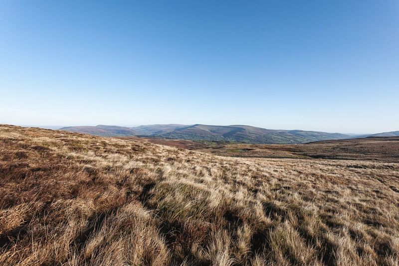 Brecon Beacons Landscape Tranquil Scene Nature Copy Space Clear Sky Tranquility Scenics Mountain Beauty In Nature Day Field Outdoors No People Mountain Range Blue Sky