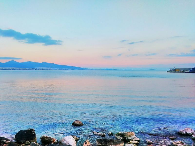 Sunset Sunset Colors Sea Sea And Sky Sky Beauty In Nature EyeEm Nature Lover Nature Nature_collection Smartphone Photography Tranquility Water Panoramic Scenics Scenery Tranquil Scene Sunset_collection Piraeus Cityscapes City Horizon Over Sea Flying High