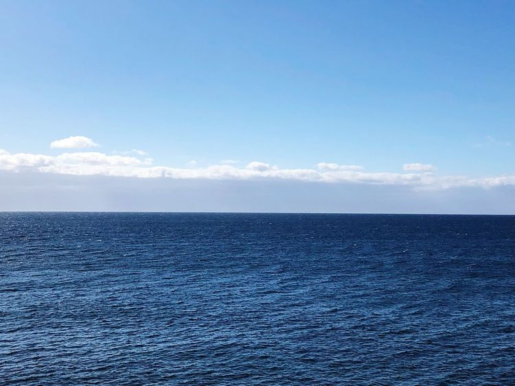 Sea Sky Water Blue Scenics - Nature Tranquil Scene Tranquility Beauty In Nature Horizon Over Water Outdoors No People Horizon Nature Idyllic Waterfront Copy Space Day Cloud - Sky Rippled