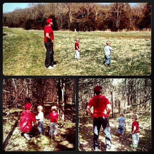 Rabbit hunting with daddy! I love all my boys! Futurerabbithunterchamps Family Love
