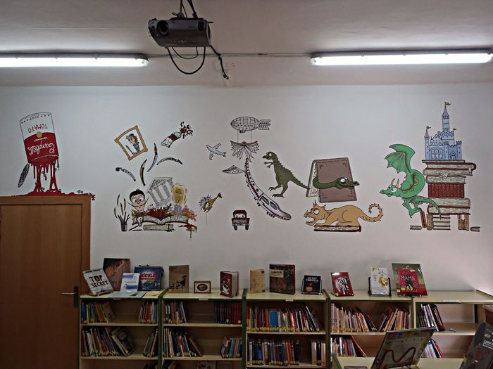 Paint Wall Art Library Books