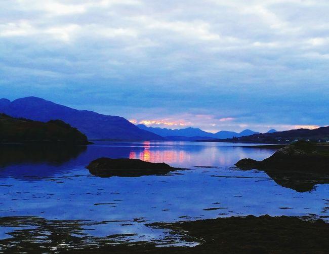 Mountain Sunset Tranquility Scenics No People Nature Outdoors Reflection Sky Landscape Isleofskye Scotland Beauty Of Nature Summer