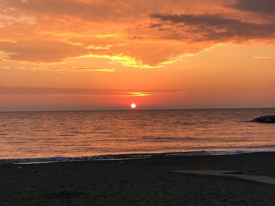 Sunset Sky Sea Water Beauty In Nature Scenics - Nature Orange Color Beach Tranquility