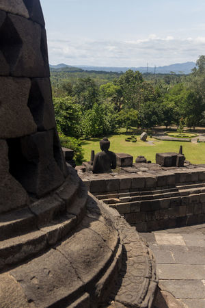 Borobudur Temple UNESCO World Heritage Site Ancient Ancient Civilization Architecture Borobudur Budism Built Structure Day History Nature No People Old Ruin Outdoors Sky Sunlight Travel Destinations Tree
