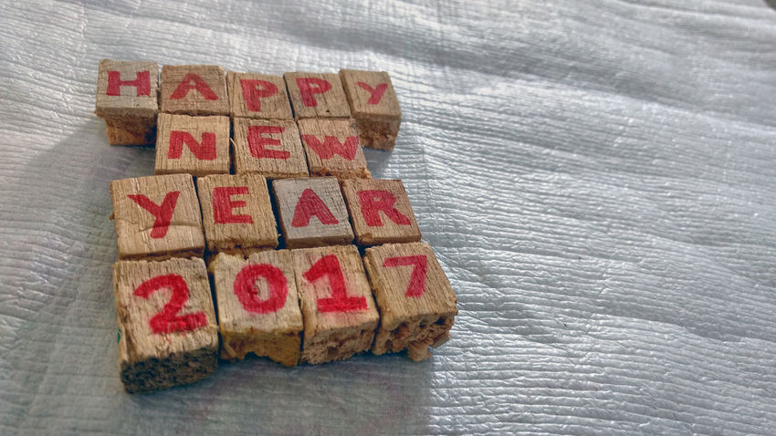 2017 Alphabetography Greetings Happy New Year New Year NewYear2017 Pattern Pattern Pieces Pieces Template Text Texture Textured  Textures And Surfaces Wood Wood - Material Wooden