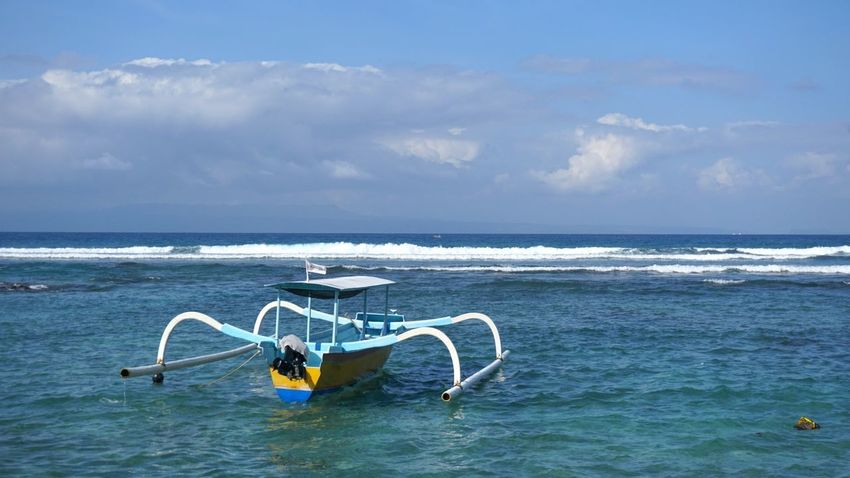 Boat Bali Baliboat Sea Water Horizon Over Water Blue Beauty In Nature Nature Day Sky Wave No People Outdoors