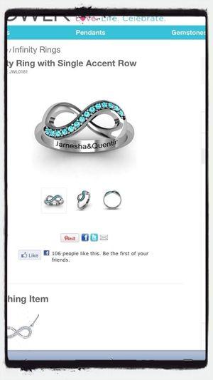 1 Year Infinity Ring ✔