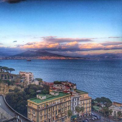 Napoli Vesuvio Golfo Italy Istanday Followme Tag Sunset Enjoy