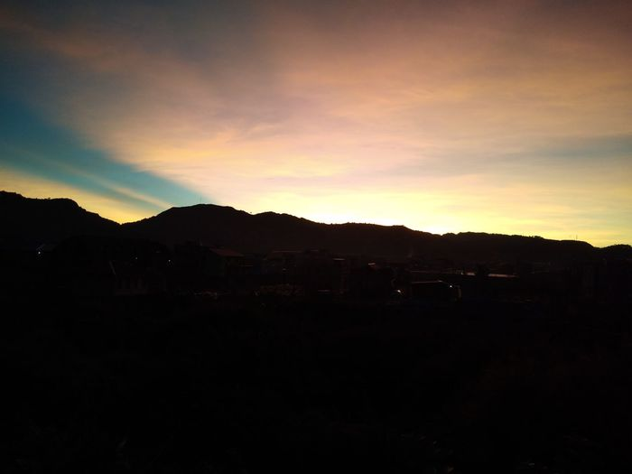 Waiting for the Sunrise, Waiting for the day. Sunrise Silhouette Mountain No People Nature Beauty In Nature Landscape Moon Outdoors Scenics Night Tree Sky Space