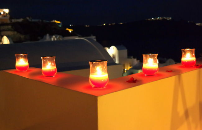 Oia, Santorini, Greece Light And Shadow Candle Light Streetphotography Beauty Of The Night