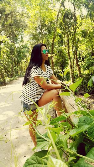 Mary my love Mywifeismymodel Allgreen Enjoying The Sun Walking Around In The Forest