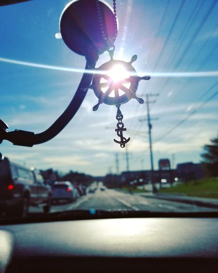 Car Sky Street Road No People Outdoors Day Close-up City Summer Love Peace Magic Beauty In Nature Anchor Nautical Helm Sunshine