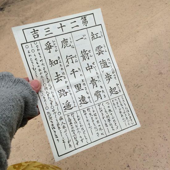 今年は『吉』を戴きました。 浅草寺にて
