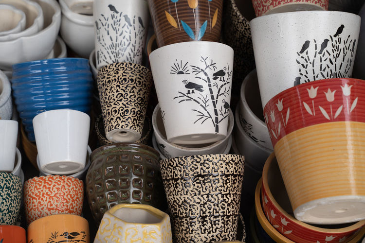 Close-up of objects for sale