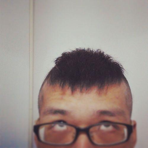之前剪毛時玩的造型。 明後兩天休息………手機也是。 20140711