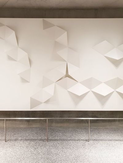 the wall No People Wall Facades Minimalism The Creative - 2018 EyeEm Awards The Still Life Photographer - 2018 EyeEm Awards The Architect - 2018 EyeEm Awards Happiness Interior Design Ceiling Paperwork Triangles Floor Marble Stone Large Group Of Objects Fantasy Hills Pattern Close-up Surreal Textured  Full Frame Design Architectural Detail Backgrounds Detail Surrealism Mysterious Origami