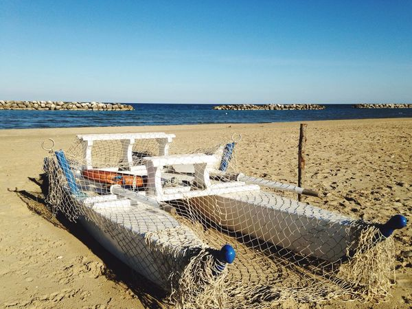 Sand Beach Sea Water Nature Horizon Over Water Scenics Clear Sky Beauty In Nature Tranquil Scene Tranquility Outdoors Sunlight Day Hooded Beach Chair No People Sky Adriatic Coast EyeEmNewHere