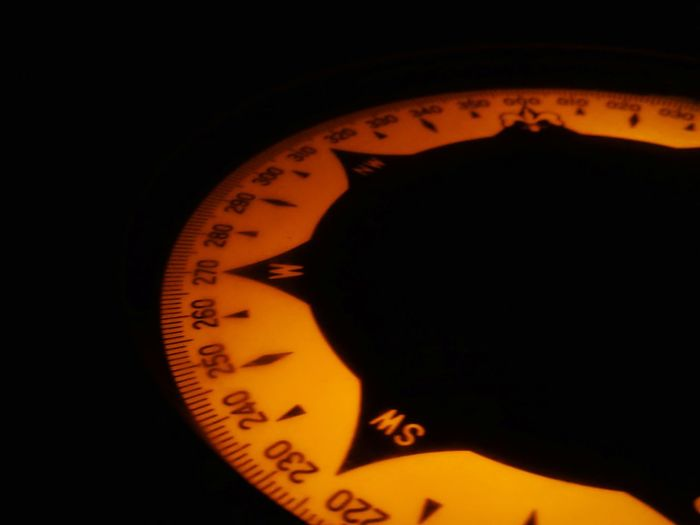 Gyro Compass Nautical Theme Nautical Equipment Life Onboard Black Background Close-up Instrument Of Measurement Measuring