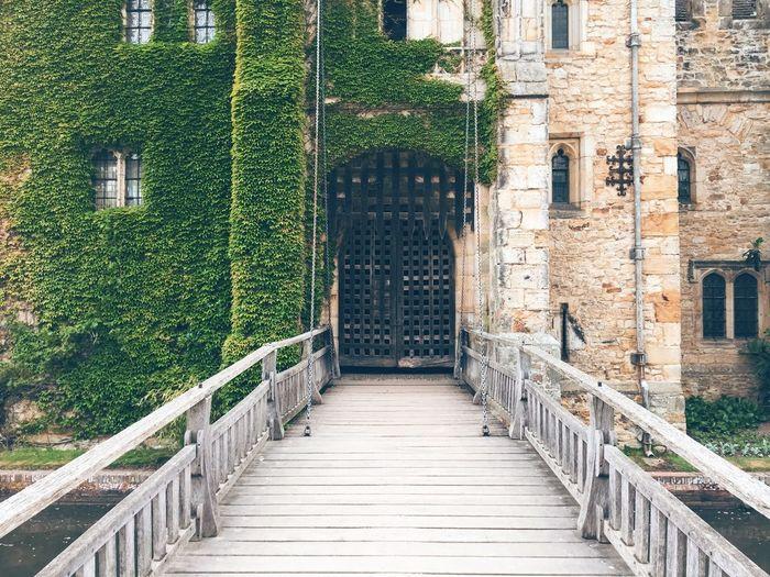 Footbridge leading towards castle