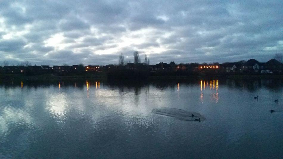 Furzton Lake on a cold & frosty morning Morning Furzton Lake Nofilter Dawn Miltonkeynes