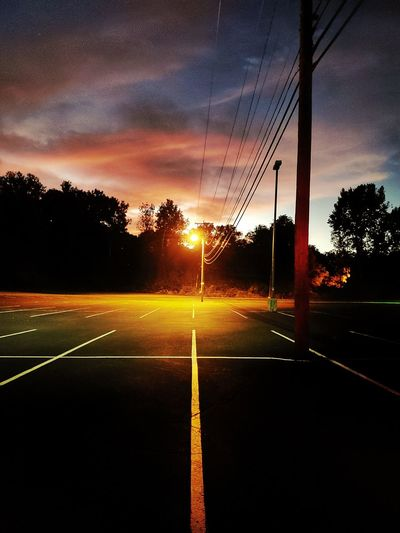light post at