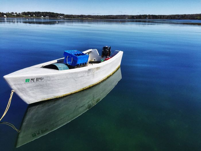 Skiff Boat Boating Still Water Blue Water Taking Photos Carol Sharkey Photography Harpswell Maine