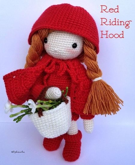 My Crochet Doll (no.4) @ Little Red Riding Hood Crochet Crocheting My Crochet Creations My Crochet Doll
