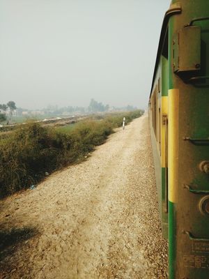 Vication Tour Love PakistaN Fog Village Life Vintage Village View Snapchat Train Tracks Train Station Outdoors Day No People Sand Beach Agriculture Sky Cereal Plant Rural Scene Nature