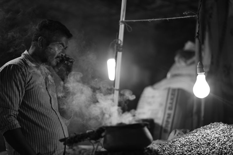 Even there is art in streets .... you just need the right moment to see it ♥️ Lighting Equipment Illuminated Smoking - Activity Smoke - Physical Structure Night Activity Men One Person Real People Males  Light Communication Bad Habit Technology Adult