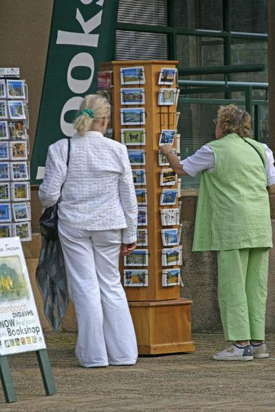 Cape Town, South Africa Kirstenbosch Botanical Gardens Cotton Clothes Green Trouser Suit Postcard Rack Postcards For Sale Two Ladies White Trouser Suit Choices Bookshop Linen Suits